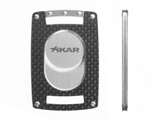 This ultra slim cigar cutter is just 3.5mm thick and has real carbon fiber exterior on both sides.    $99.99    http://store.carbonfibergear.com/xikar-xi-ultra-slim-carbon-fiber-cutter