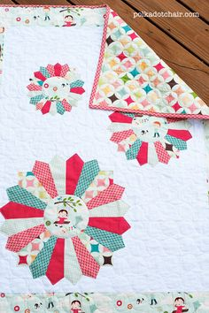 Tutorial for Dresden Burst Baby Quilt @ polka dot chair