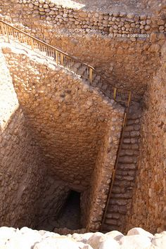 An ancient cistern in Tel Be'er Sheva, where the biblical city of Beer Sheva once stood. Israel