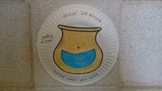 Lesson 3 Jesus turns water into wine craft. Made with 2 paper plates. I precut…