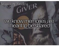 The Giver, amazing book, if you haven't read it READ IT!!!!!!!!!!
