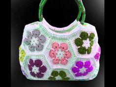 Diy Crochet Bag, Crochet Clutch Bags, Crochet Bag Tutorials, Crochet Shirt, Crochet Handbags, Crochet Purses, Crochet Videos, Crochet Projects, Knit Crochet