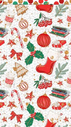 Are you looking for ideas for christmas wallpaper?Check this out for unique Xmas ideas.May the season bring you joy. Christmas Paper, Winter Christmas, Christmas Time, Christmas Crafts, Christmas Decorations, Christmas Wrapping, Christmas Phone Wallpaper, Holiday Wallpaper, Winter Wallpaper