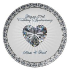 Shop Diamond Heart Wedding Anniversary Ornament created by Digitalbcon. Personalize it with photos & text or purchase as is! 60th Anniversary Gifts, 60 Wedding Anniversary, Diamond Anniversary, Anniversary Parties, Anniversary Ideas, Hanging Microwave, Special Text, Heart Shaped Diamond, Wedding Stickers