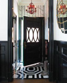 black door, foyer
