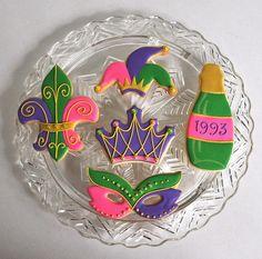 Marti Gras Celebration~                 by kelleyhart, via Flickr, pink, purple, green, crown, mask, jester hat, fdl, wine bottle