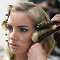 To cheat... for finger waves!