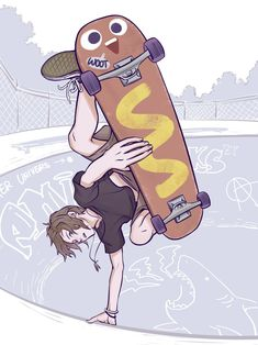 Chloe Price and her awesome Hawt Dawg Man skateboard