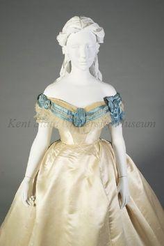 Image of Artifact 1800s Fashion, 19th Century Fashion, Victorian Fashion, Vintage Fashion, Victorian Ladies, Corsage, Vintage Tea Party Dresses, Ball Dresses, Evening Dresses