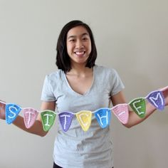 Crochet some bunting flags with this free pattern, thanks so xox
