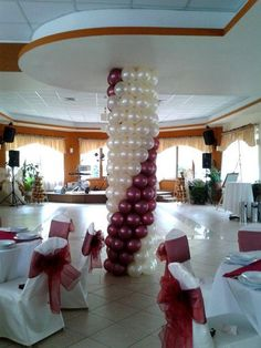 Balloon column using column already in the room
