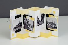 This mini album in black, white and daffodil, with Stampin 'Up! Products decorated, can also be used as a picture frame.de Source by Big Shot, Mini Album Tutorial, Bday Cards, Folded Cards, Paris, Daffodils, Mini Albums, Picture Frames, Stampin Up
