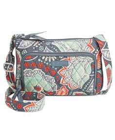 Reimagined in a snazzy signature pattern, this Little Hipster bag from Vera Bradley is a fun and fashionable organizer for shopping or travel. | Cotton | Imported | Adjustable crossbody strap with 26""