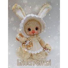 Erica Ferrari Porcelana Fría (@ericaferrariporcelanafria) • Fotos y vídeos de Instagram Pasta Flexible, Dragon, Air Dry Clay, Cold Porcelain, Ferrari, Bunny, Teddy Bear, Dolls, Christmas Ornaments