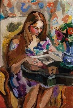 """""""La Lecture"""" by artist Pierre Cornu  - #reading #books"""