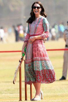 15 нарядов из «индийского» турне герцогини Кэтрин | Мода | Tatler – журнал о светской жизни
