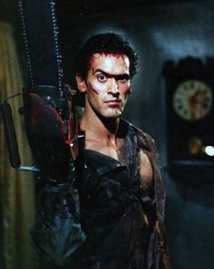 Groovy! Bruce Campbell as Ash Williams in #EvilDead 2 (1987).