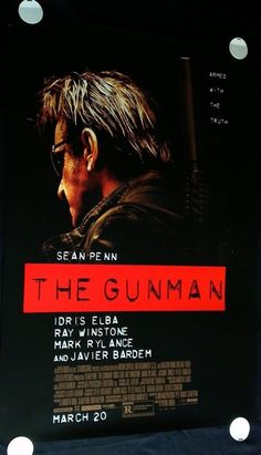 """THE GUNMAN 2015 Movie Poster 27x40"""" Double Sided + FREE SHIPPING!!! #MoviePoster"""