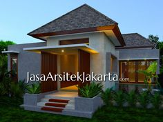 One Storey House, Bungalow House Design, Gate House, Dream House Plans, Resort Style, Types Of Houses, Home Fashion, House Styles, Modern