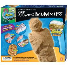 Amazing Mummies - Make your own Royal Mummy from the inside out! Wrap, paint and display your mummy in the provided carved stone resting place! Includes a 48 pg. Fun and Fact Booklet! Amazing Mummies brings you the science of creating your own mummy and discovering the fascinating history of a ritual more than 5,000 years old!