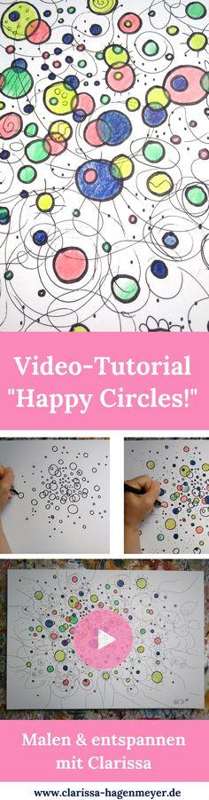 Malen kann so entspannend sein! Male mit mir heute doch einfach mal nur Kreise - in allen möglichen Varianten :-) Du wirst überrascht sein, wie viel Spaß das macht! Weg von Druck und Erwartungen, einfach der Freude folgen und genießen! Viel Spaß mit meinem Kreativ Video Tutorial! #malen #tutorial #kreativ #kreativität #happypainting