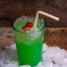 Liquid Marijuana Drink... 1/2 oz. Rum, spiced (Captain Morgan's) 1/2 oz. Curacao, blue 1/2 oz. Rum, coconut (Malibu) 1/2 oz. Liqueur, melon (Midori) Fill with Pineapple Juice 1 splash Sour Mix