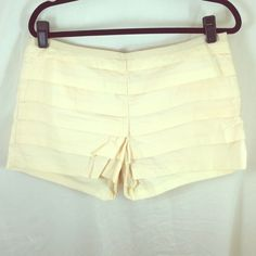 Pale peach layered shorts Pale peach layered shorts from JCrew. Side zip, very flattering! J. Crew Shorts