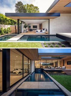 This Modern California House Creates An Indoor / Outdoor Lifestyle Indoor Outdoor, Small Outdoor Spaces, Small Modern Home, California Homes, Modern House Design, Exterior Design, Interior Exterior, Architecture Design, Sustainable Architecture