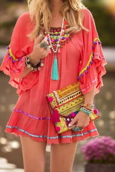 20 + Cute Dresses + Summer Outfits to Try Now as featured on PASABOHO. Trending  boho hippie gypsy outfit Ideas. Suitable for a casual day out or holiday festive party outfit. #Pasaboho
