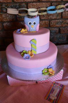 Hoot! A beautiful owl birthday cake. - Belle's Patisserie