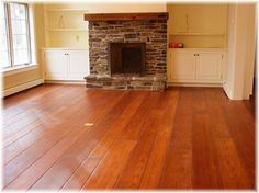 Kiln-dried Red Oak protected with Polyx Oil by Colonial Plank Floors.
