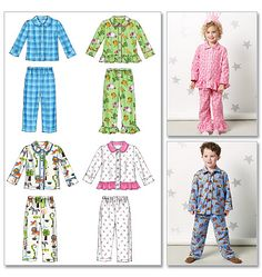 McCall's Pattern M6458--- I could just widen the pj top and turn it into a child's chef coat.