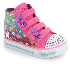 Toddler Girl's Skechers 'Shuffles - Baby Talk' Sneaker
