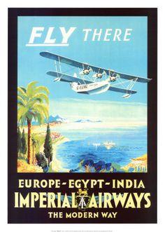 Imperial Airways Kunstdruk