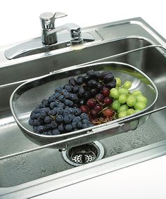 Expandable Stainless Steel Over-the-Sink Colander