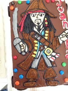 Jack Sparrow FreeHand cake