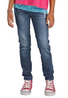 Produkttyp , Jeans, |Qualitätshinweise , Hautfreundlich Schadstoffgeprüft, |Materialzusammensetzung , Obermaterial: 98% Baumwolle, 2% Elasthan, |Material , Jeans, |Farbe , dark blue, |Passform , schmale Form, |Beinform , schmal, |Beinlänge , lang, |Leibhöhe , normal, |Bund + Verschluss , Verstellbarer Innen-Gummizug bis Gr.158, |Taschenanzahl , 5, |Vorder- und Seitentaschen , Eingriffstaschen r...
