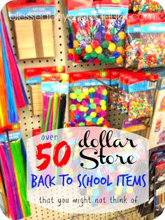 cute Back to School Supplies from the Dollar Store - Blessed Beyond A Doubt - Homeschool - I love the Dollar Stores for cute back to school supplies. I have to admit, I refuse to buy any oth - Tumblr School Supplies, Diy Back To School Supplies, Diy Crafts For School, College School Supplies, School Supplies Organization, Teacher Supplies, School Items, Teacher Hacks, Baby Supplies