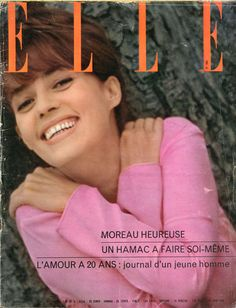 Jeanne Moreau en couverture de Elle n°966 de 1964, photo David Steen-Holmes-Lebel