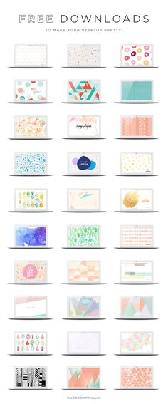 Loads of free wallpaper designs to dress up your desktop! via @kaleidoscopeblog