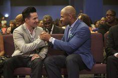 Pastors Jay Haizlip and Wayne Chaney in a scene from #Preachersof LA on Oxygen network