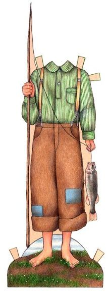 caddie woodlawn & sterling north paper dolls   Caddie Woodland & Sterling North