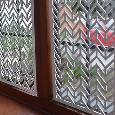Interior window screens for security and style Huge range of decorative laser cut panels and window screens. Window Decor, Interior Windows, Window Security Screens, Window Screens, Decorative Screens, Privacy Panels, Metal Facade, Glass Art, Metal Screen