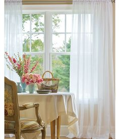 Country Curtains Cotton Voile Rod Pocket Curtains. Master Bedroom. $49.50 pair. To use with opaque panels in master bedroom.