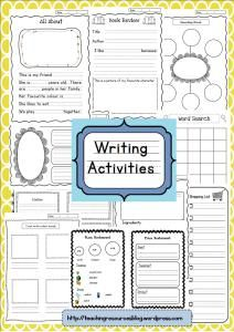 Writing Resources and Activities for kindergarten and first grade