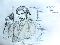 Sebastian and Ruvik, The Evil Within, pixiv artist: 蒼Fade