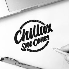 WEBSTA @ illesso_ - Chillax Sno Cones! ♠️ #customtype #customlettering #customtypography #goodtype #thedailytype #type #typism #typegang #typespot #typography #typematters #brushtype #handtype #handdrawn #handmadefont #letters #lettering #letteringdesign
