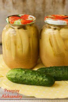 Przepisy Aleksandry: PRZETWORY NA ZIMĘ: OGÓRKI W ZALEWIE MUSZTARDOWEJ Veggie Dishes, Preserves, Pickles, Cucumber, Canning, Vegetables, Recipes, Food, Poland