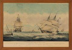 """""""TABLE BAY, CAPE OF GOOD HOPE"""" 1824  Håndkolorert kobberstikk, 34x65 cm W.J. HUGGINS"""