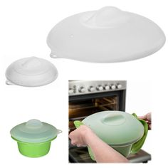 Set of 2 Silicone Lids by Zak – Prevent Microwave Splatters